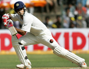Indian cricketers Sourav Ganguly plays a