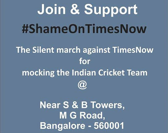 Photo Courtesy: Shame on Times Now event page