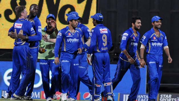 Rajasthan-Royals-celebrate-fall-of-a-wicket-during-56th-match-of-IPL-2014-between-Mumb