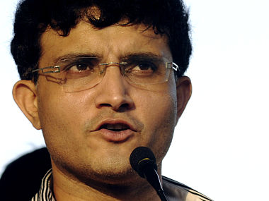 Former Indian cricket captain Ganguly speaks at a ceremony in Agartala