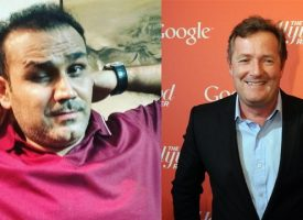 Virender Sehwag hits back at Piers Morgan in his trademark style