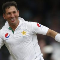Britain Cricket - England v Pakistan - First Test - Lord's - 17/7/16 Pakistan's Yasir Shah celebrates taking the wicket of England's Moeen Ali Action Images via Reuters / Andrew Boyers Livepic EDITORIAL USE ONLY.