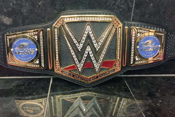 Triple H fulfills promise, gifts customized WWE World Heavyweight Championship belt to IPL 10 winners Mumbai Indians