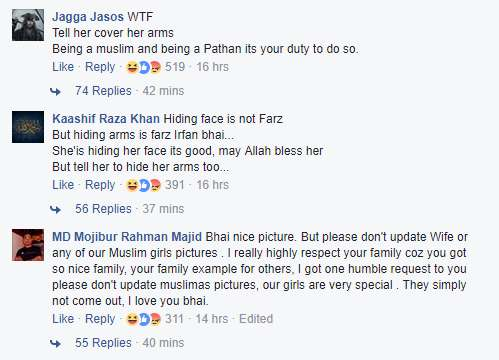 Irfan shares photograph of his wife online, faces social media trolls