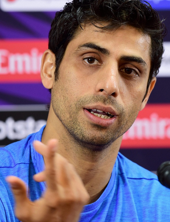 Ashish Nehra at press conference