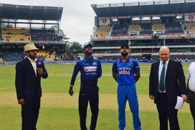 Virat Kohli and Upul Tharanga at the toss. (Photo Source: Cricket Next)