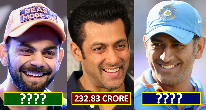 Salman Khan tops list of Forbes India Highest Earning Celebrity
