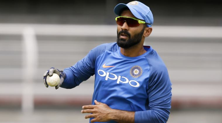 India's Dinesh Karthik fields during training at Queen's Park Oval in Port of Spain, Trinidad and Tobago, Thursday, June 22, 2017. India is on a five ODI and a one-off T20I tour to the West Indies slated to begin on June 23. (AP Photo/Ricardo Mazalan)