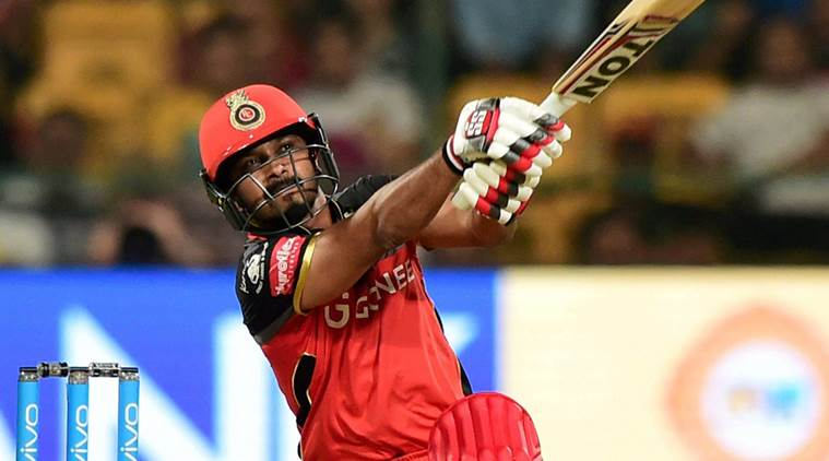 Bengaluru : Royal Challengers Bangalore's Kedar Jadhav plays a shot during the IPL 10 match against Delhi Daredevils at Chinnaswamy stadium in Bengaluru on Saturday. PTI Photo by Shailendra Bhojak(PTI4_8_2017_000258B)