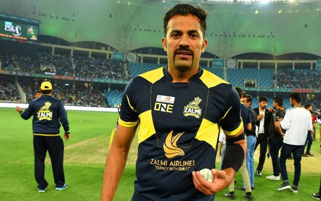 Wahab Riaz sports a moustache. (Photo Source: Twitter)