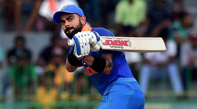 Colombo: India's Virat Kohli plays a shot against Sri Lanka during the 4th ODI match in Colombo, Sri Lanka, on Thursday. PTI Photo by Manvender Vashist  (PTI8_31_2017_000176A) *** Local Caption ***