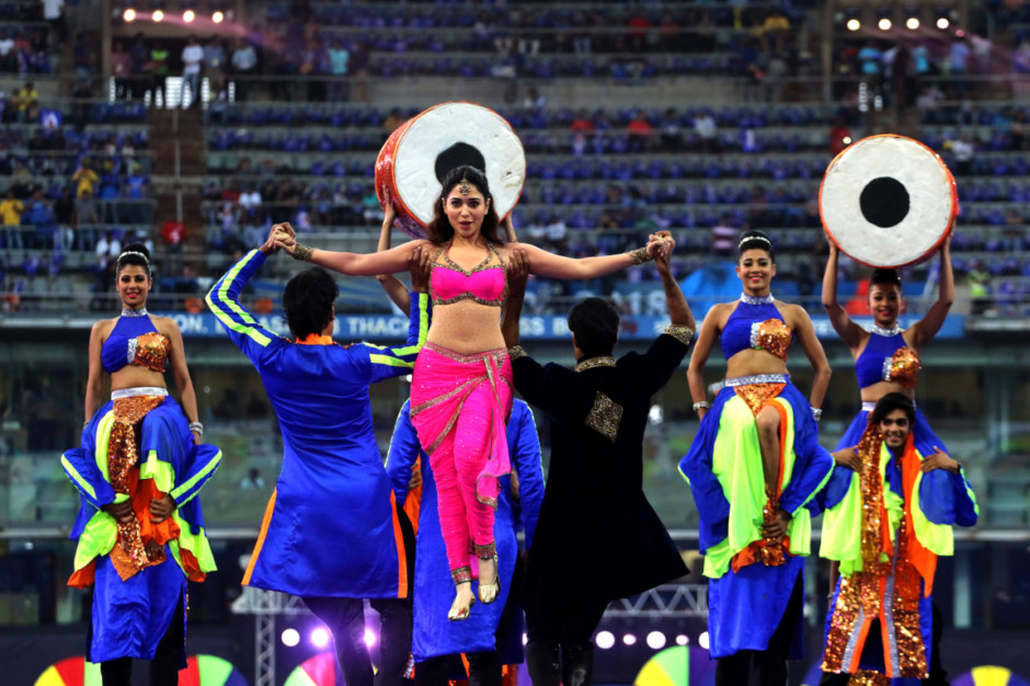 Actor Tamannaah Bhatia performs during the opening ceremony of the Vivo Indian Premier League 2018 (IPL 2018) before the first match between the Mumbai Indians and the Chennai Super Kings held at the Wankhede Stadium in Mumbai on the 7th April 2018. Photo by Vipin Pawar / IPL / SPORTZPICS