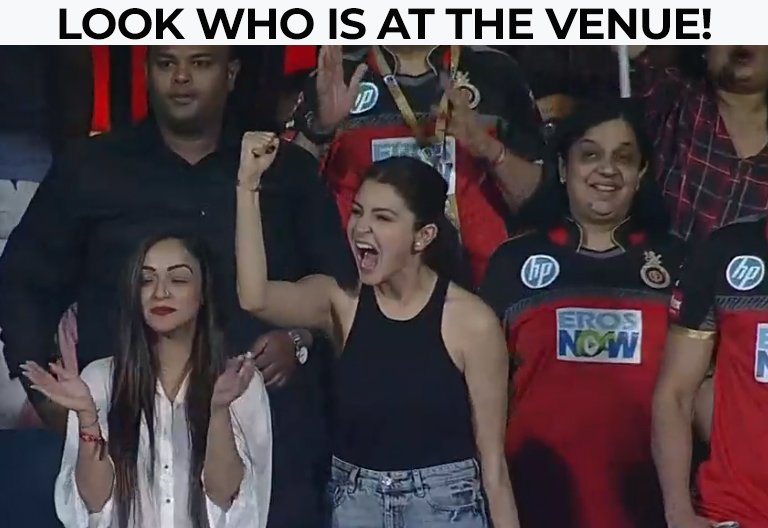 Anushka Sharma Cheers Husband Virat Kohli On At IPL Match
