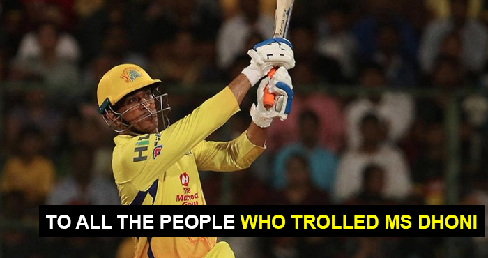 OPEN LETTER TO MS DHONI TROLLERS