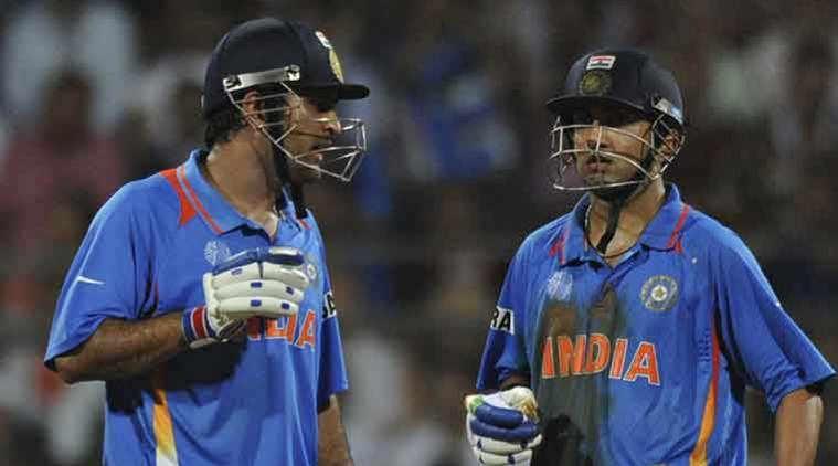 Gautam Gambhir and MS Dhoni in World Cup 2011 final.