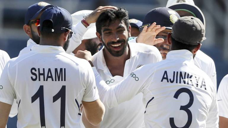 Source: https://www.moneycontrol.com/news/cricket/india-vs-west-indies-2nd-test-bumrahs-hat-trick-viharis-maiden-ton-put-india-in-command-on-day-2-4393601.html