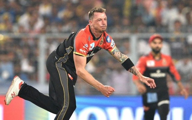 Kolkata: Royal Challengers Bangalore's Dale Steyn in action during the 35th match of IPL 2019 between Kolkata Knight Riders and Royal Challengers Bangalore at Eden Gardens in Kolkata on April 19, 2019. (Photo: Kuntal Chakrabarty/IANS)