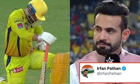 Irfan Pathan takes a dig at MS Dhoni