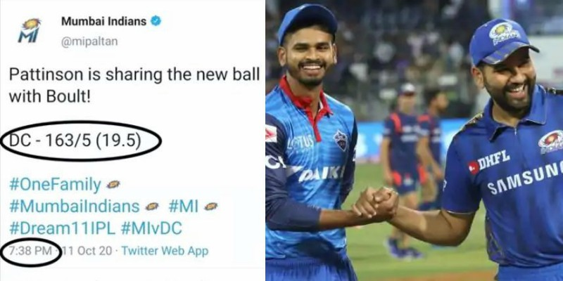 "A Tweet By Mumbai Indians Has Sparked A Big ""Fixing"" Debate On Twitter"
