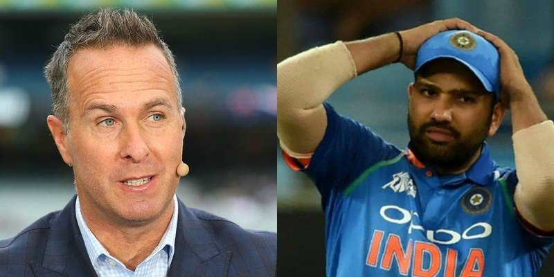 Image result for rohit sharma michael vaughan