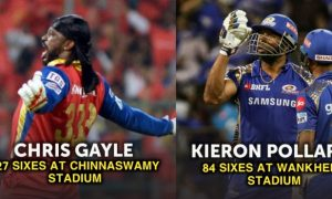 most sixes in Ipl at a venue